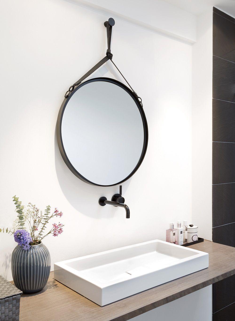 Zuruckhaltende Eleganz Der Wandspiegel Liz Passt Mit Seinem Runden Design Perfekt In Das Schlichte Aber Dennoch Seh Miroir Mural