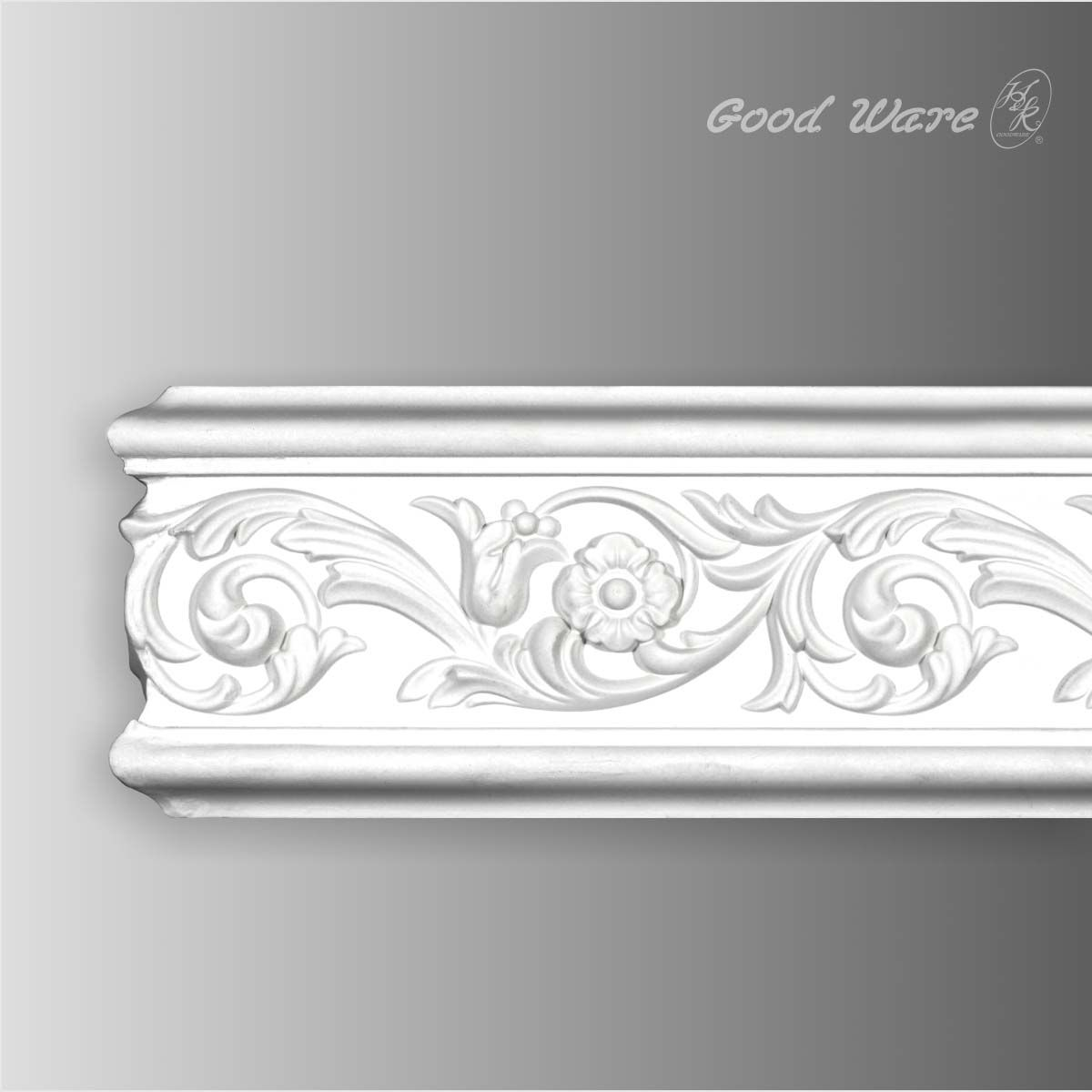 Decorative Wall Molding polyurethane decorative wall chair rail molding is 4-5/16''h x 13