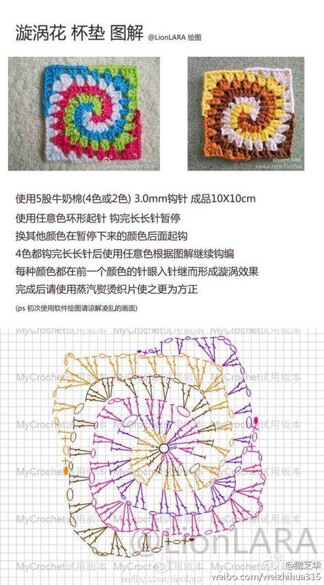 钩针图解~ - 堆糖 发现生活_收集美好_分享图片 | crochet flowers ...