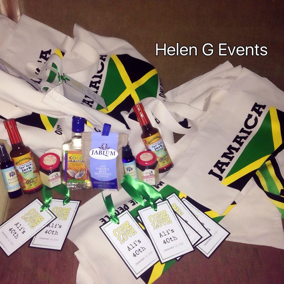 Jamaican Wedding Favors Helen G Events Jamaican Wedding Wedding Welcome Bags Wedding Favors