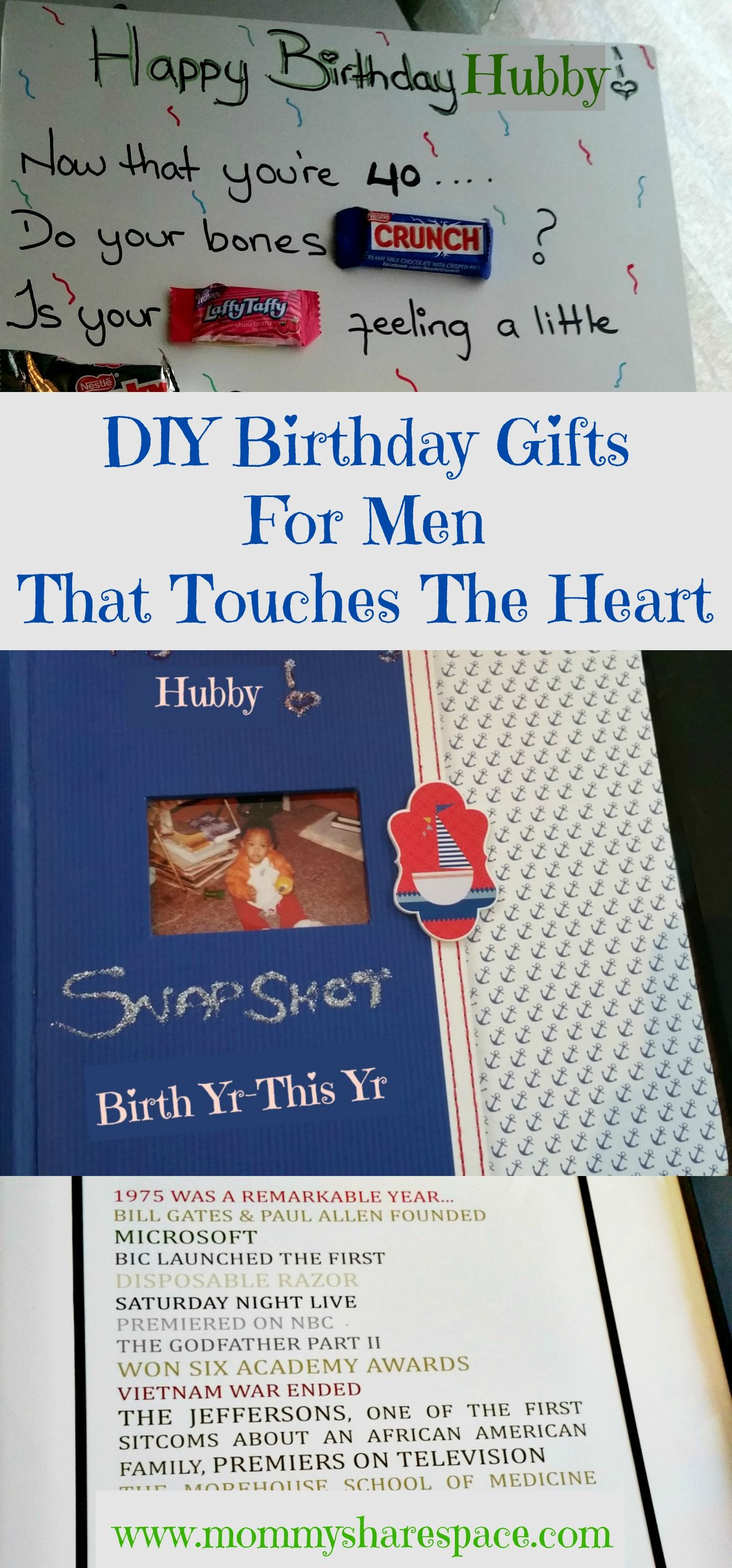 DIY Birthday Gifts For Men That Touches The Heart | DIY Birthday ...