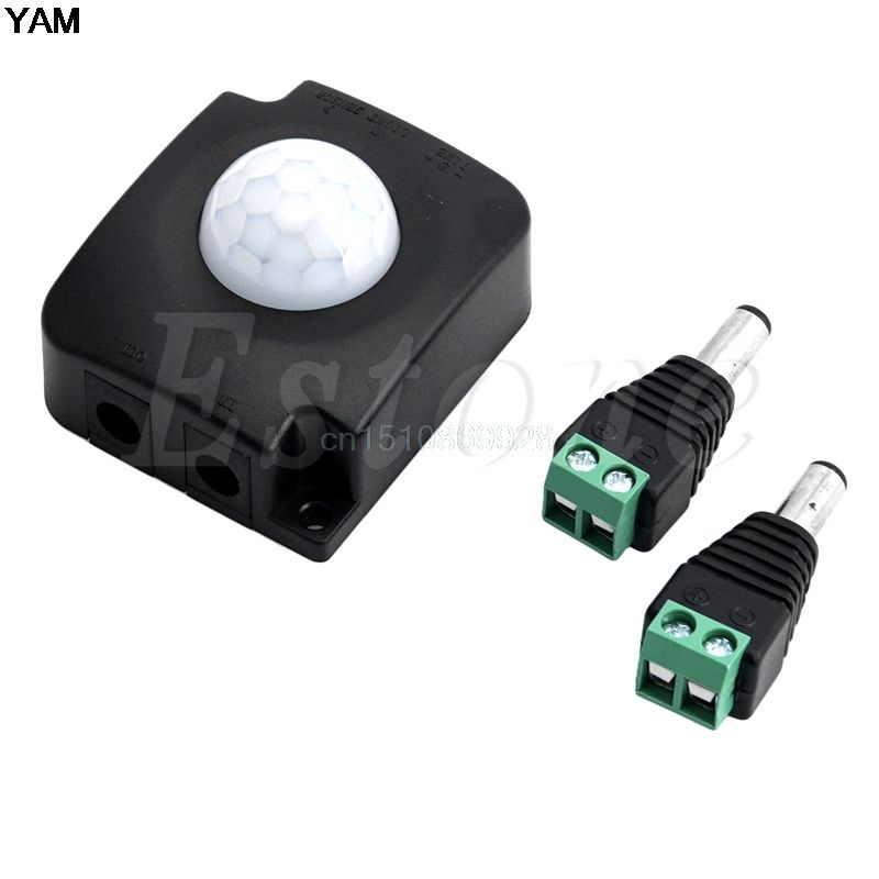 1pc Automatic Dc 12v 24v 10a Infrared Pir Motion Sensor Switch For Led Strip Black Led Lights Led Strip Lighting Motion Sensor