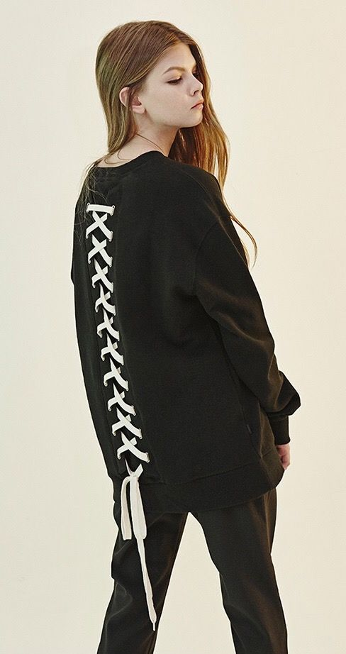 65836632a2d34 DBYD.GNAK Back Lace-Up Sweatshirt