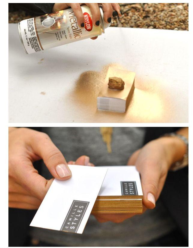 Diy gilded business cards gold diy business cards and cards diy gilded business cards reheart Choice Image