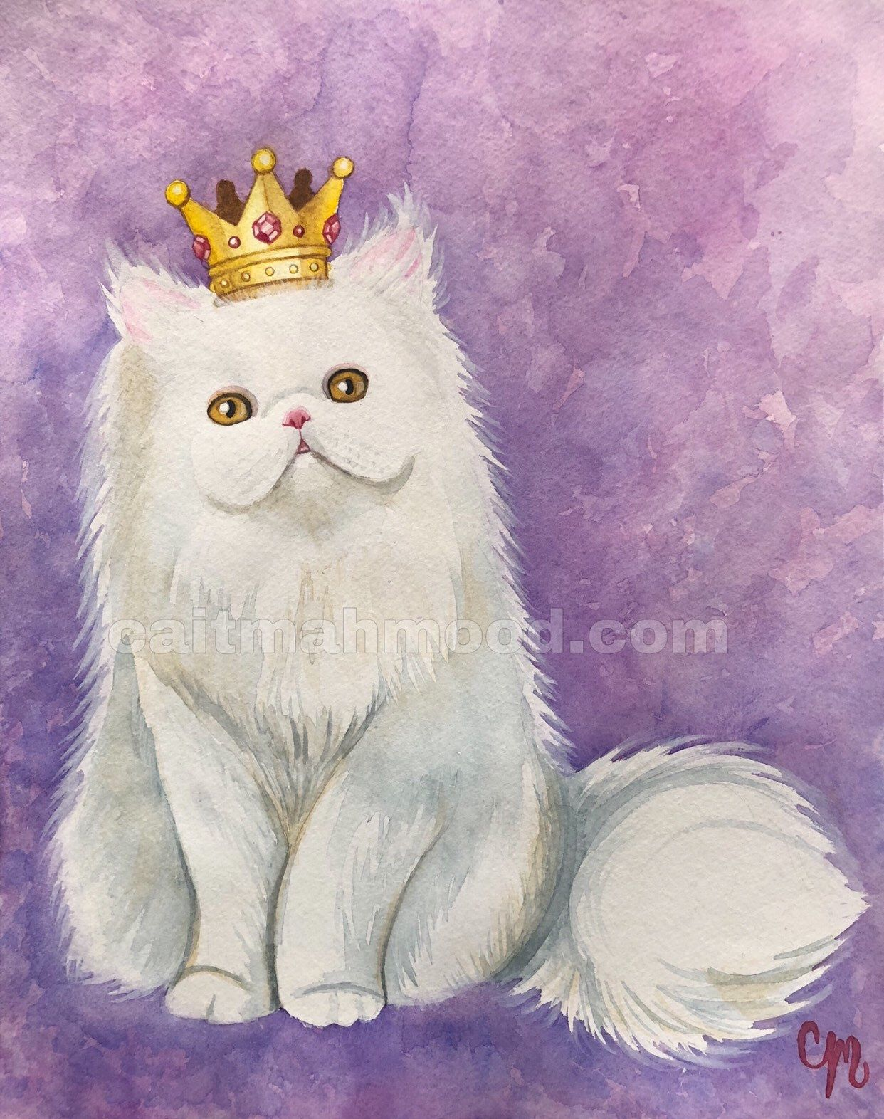 Excited to share this item from my #etsy shop: Purrfect Persian - Fine Art Print #persiancat #art