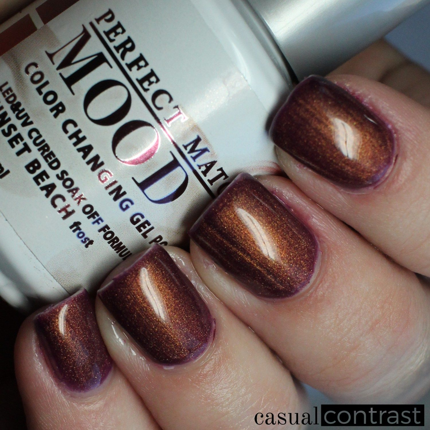 Lechat Sunset Beach Cold State Perfect Match Mood Color Changing Gel Polish Swatches