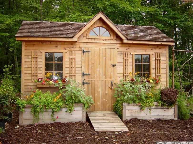 in the garden 25 charming garden sheds