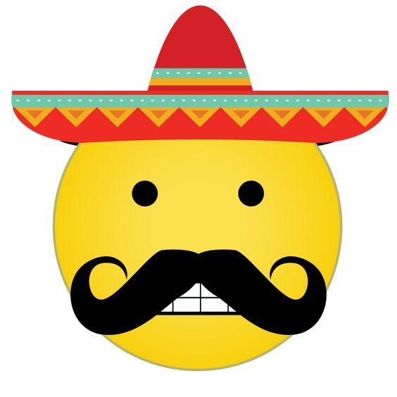 mexican sombrero mustache emoji technology innovation rh pinterest com Small Smiley Face Clip Art Yummy Smiley Face Clip Art