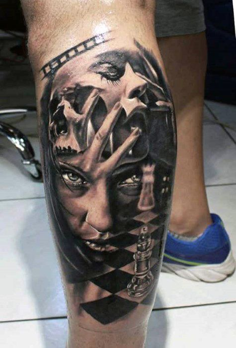 50 3d Leg Tattoo Designs For Men Manly Ink Ideas Best Leg Tattoos Leg Tattoo Men 3d Leg Tattoos