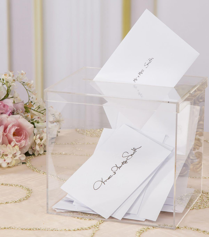 David Tutera Weddings Ideas: David Tutera Acrylic Card Box With Slit On Lid In 2019