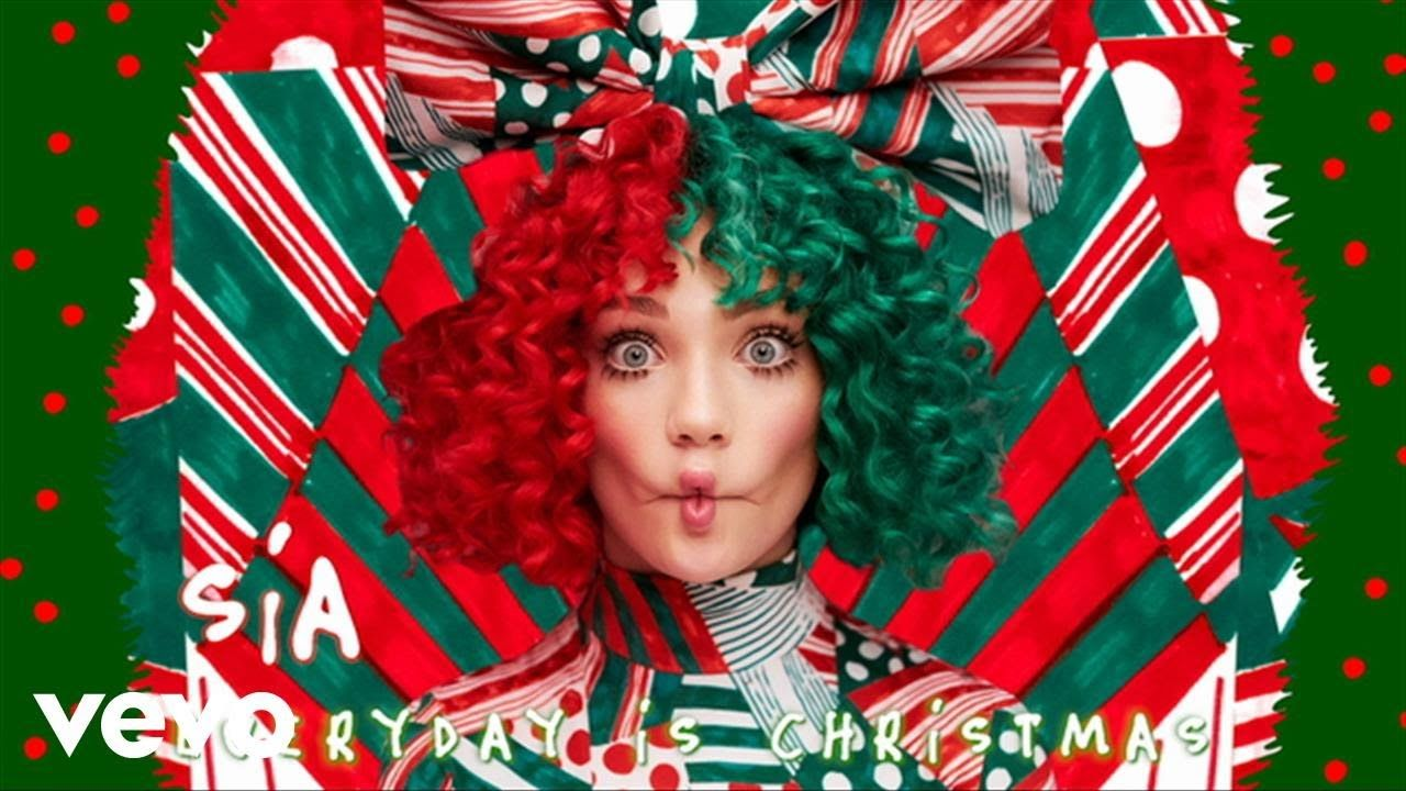 sia unleashes joyous christmas song santas coming for us listen - Youtube Music Christmas Songs