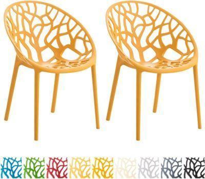 Gartenstuhl HOPE, 2-er Set Kunststoff-Stapelstuhl, stabil max - gartenmobel kunststoff design
