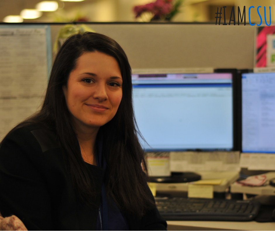 """""""I love that moment when a student calls in worried or concerned and I am able to assist them in a way that promotes confidence and relieves stress in their life,"""" says Jennifer. """"I am always happy to help a student in any way possible. The greatest part about being a Student Support Specialist is that even when I do not have the answer or ability to assist the student, I make sure to connect them to the right people with the right answers."""" #IAmCSU"""