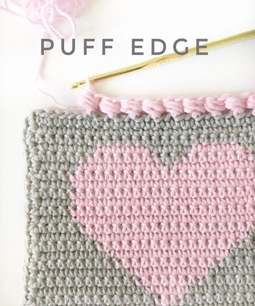 crochet puff edge for heart baby blanket | Crochet | Pinterest ...