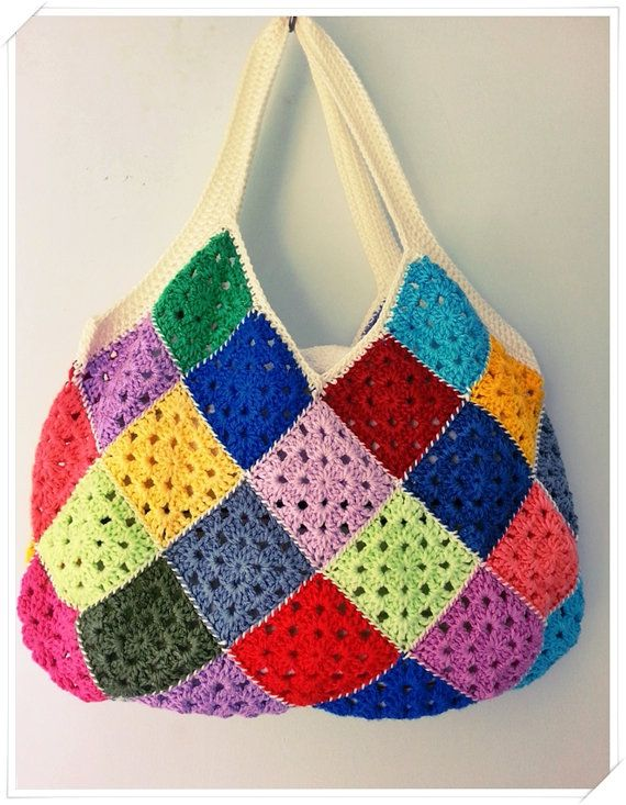 Crochet Bag Shoulder Bag Tote Bag Retro Bag Summer Bag Gift For - Bolsos-ganchillo-crochet