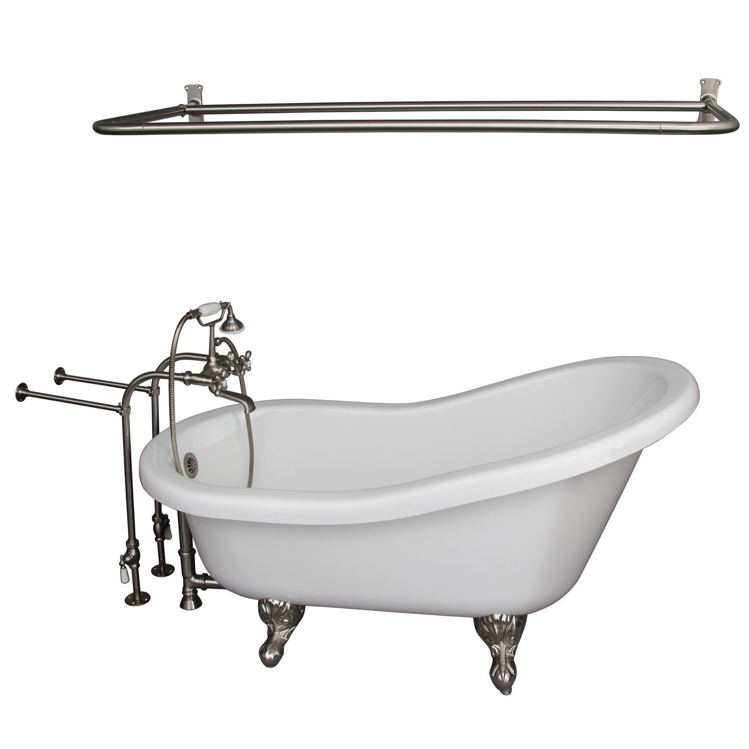 67 X 30 Soaking Bathtub Kit Soaking Bathtubs Clawfoot Bathtub