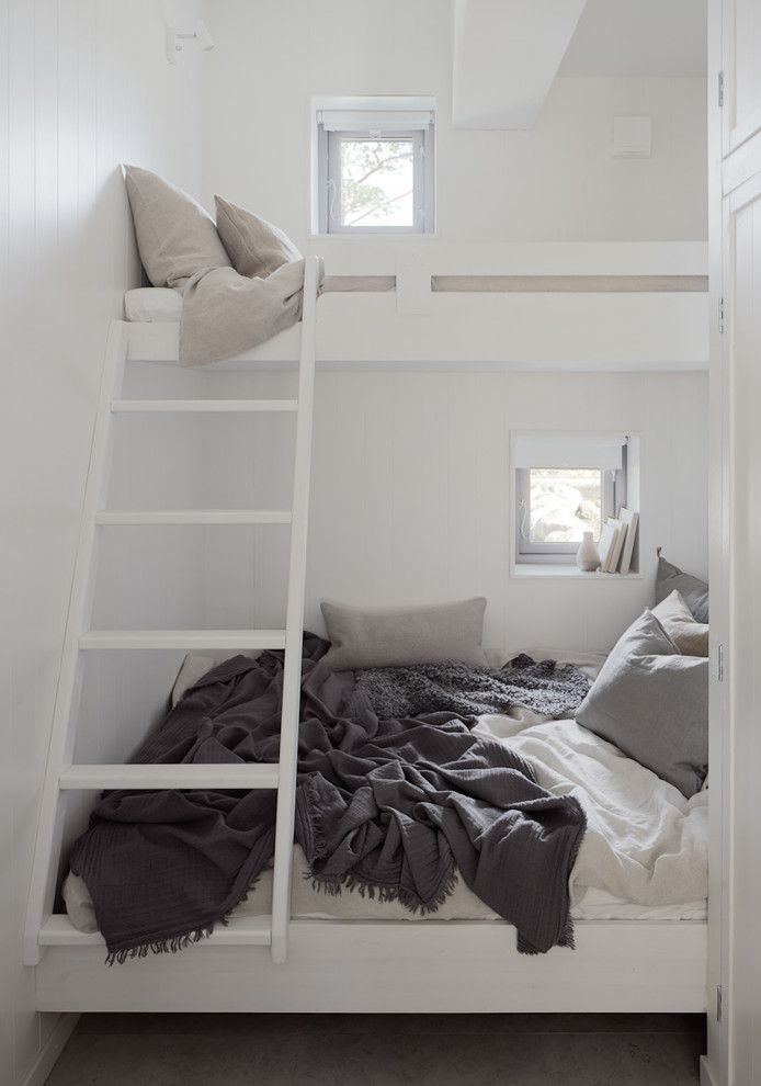 perfect loft bed solution for small spaces. Photo: Home Adore                                                                                                                                                                                 More