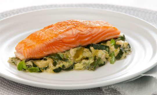 Free Braised Spring Vegetables With Salmon Recipe Try This Free Quick And Easy Braised Spring Vegetables With Salmon Re Salmon Recipes Recipes Dinner Recipes