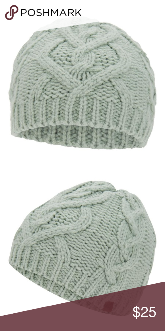 507e63efbea Cable Knit Beanie Accessorize your cold-weather look with this cute Keds  Large Cable Knit Beanie in Chinois Green. Keds Accessories Hats