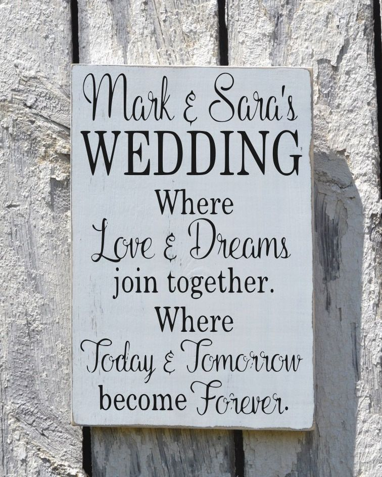 Rustic Wedding Sign Welcome Personalized Signs For Weddings Love Quote ...