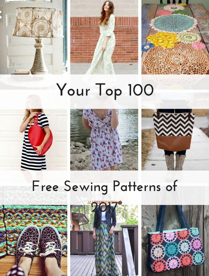 Your Top 100 Free Sewing Patterns Of 2017 Most Popular Sewing