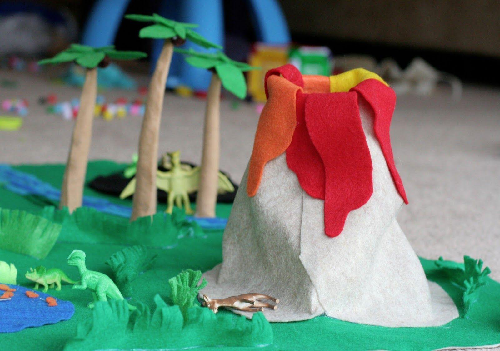 No Sew Dinosaur World Playmat Diy Gifts For Kids Dinosaur Play Creative Diy Gifts