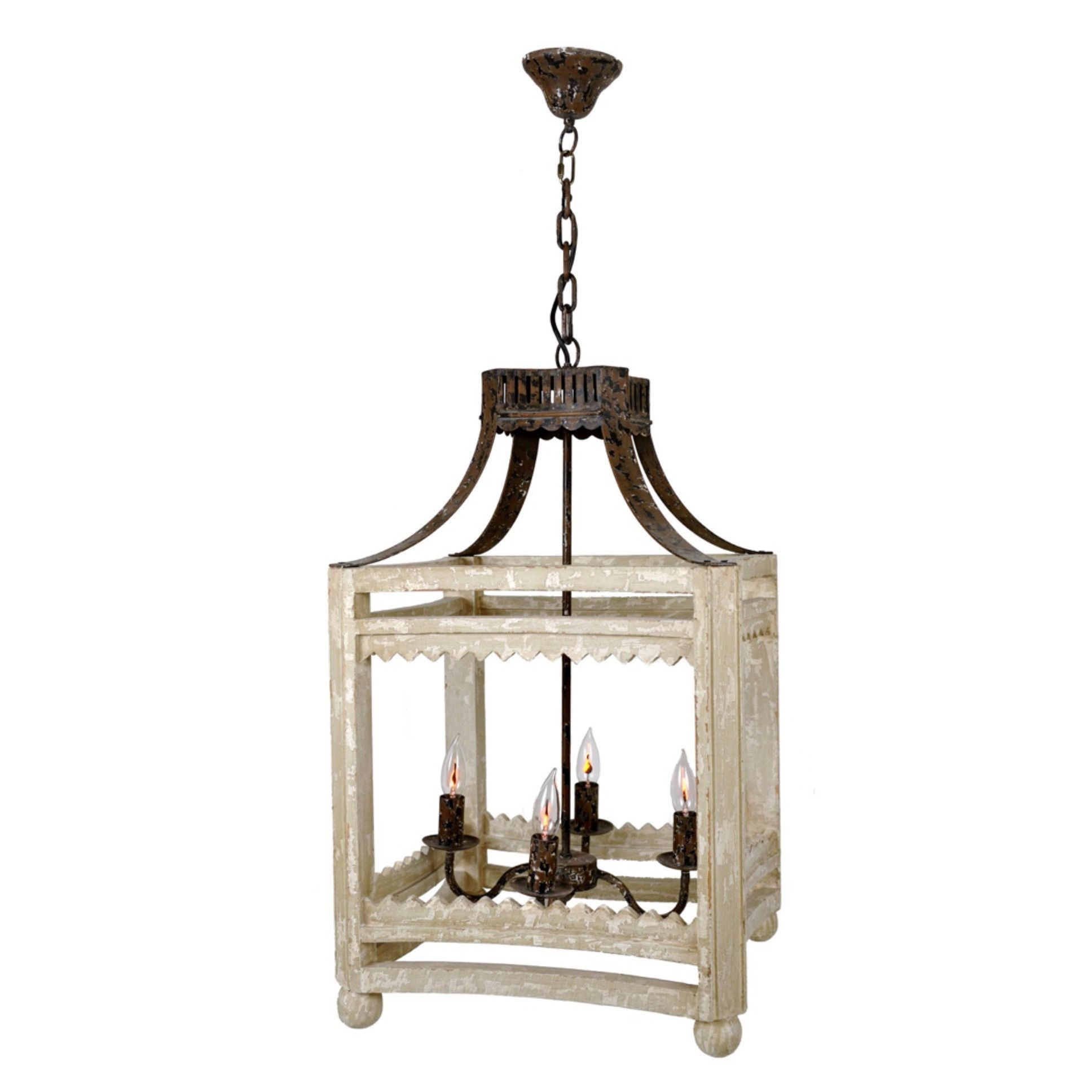 Farmhouse Lantern (Distressed Ivory)