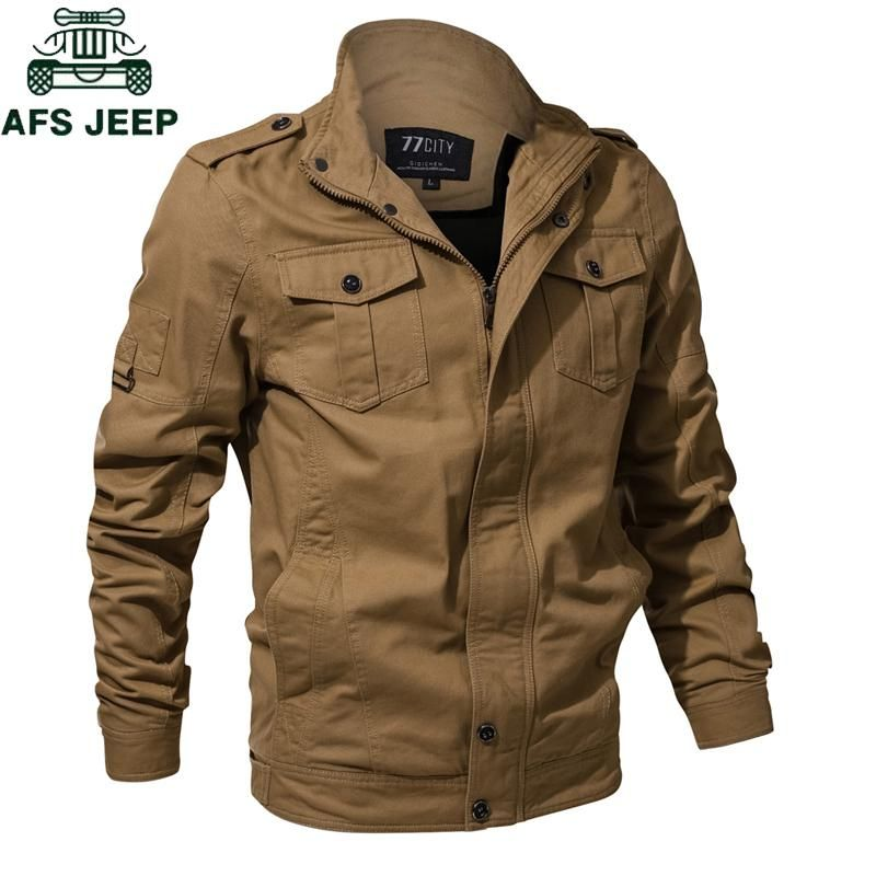 b4017a053c1 Brand 2018 Winter Military Jacket Men Air Force One Mens Jackets Coats  Military pilot jacket jaqueta masculina Plus Size M-5XL. Yesterday s price   US  59.98 ...