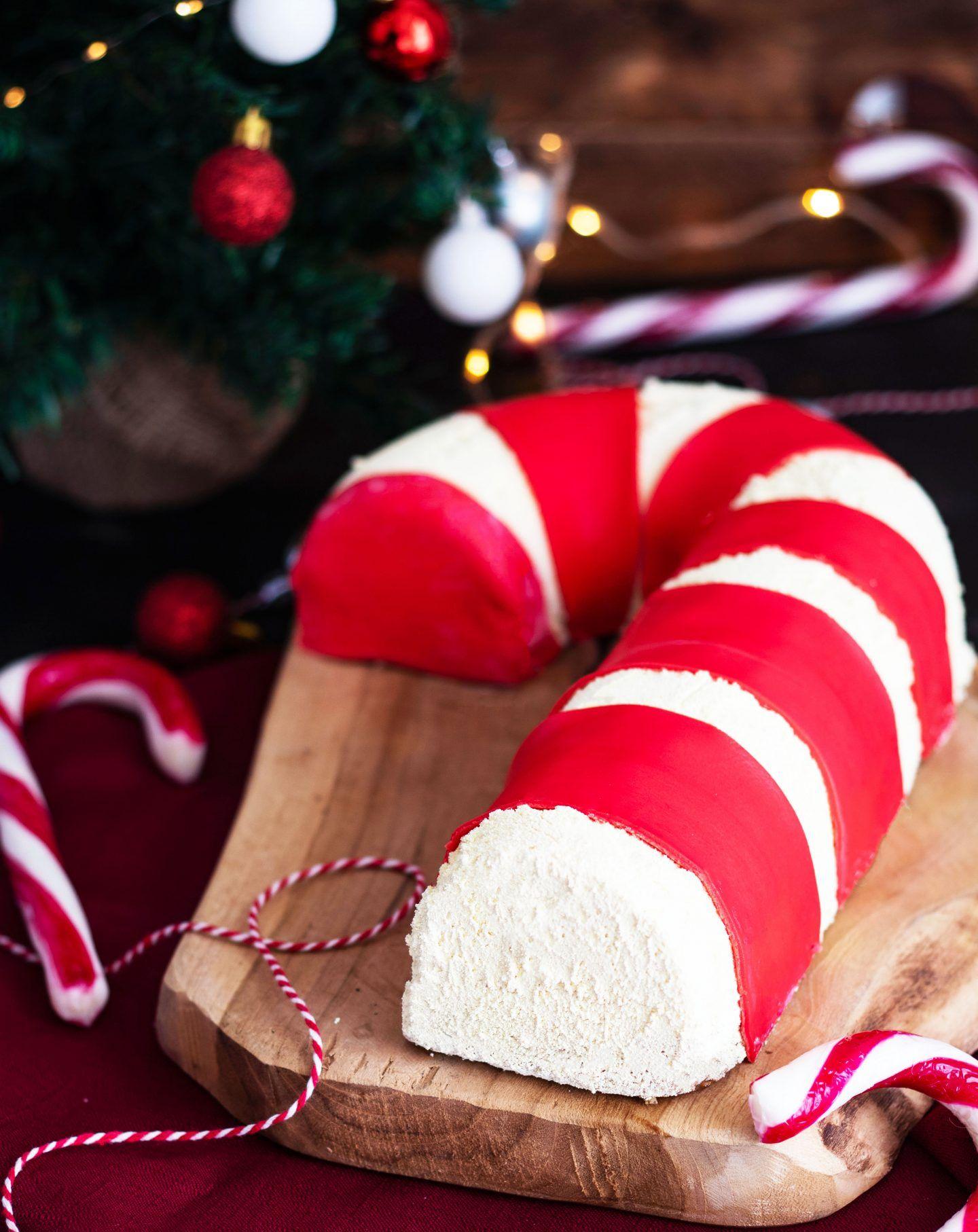 Recette Bûche de Noël aux fruits rouges Sucre d'orge - Blog de MaSpatule.com