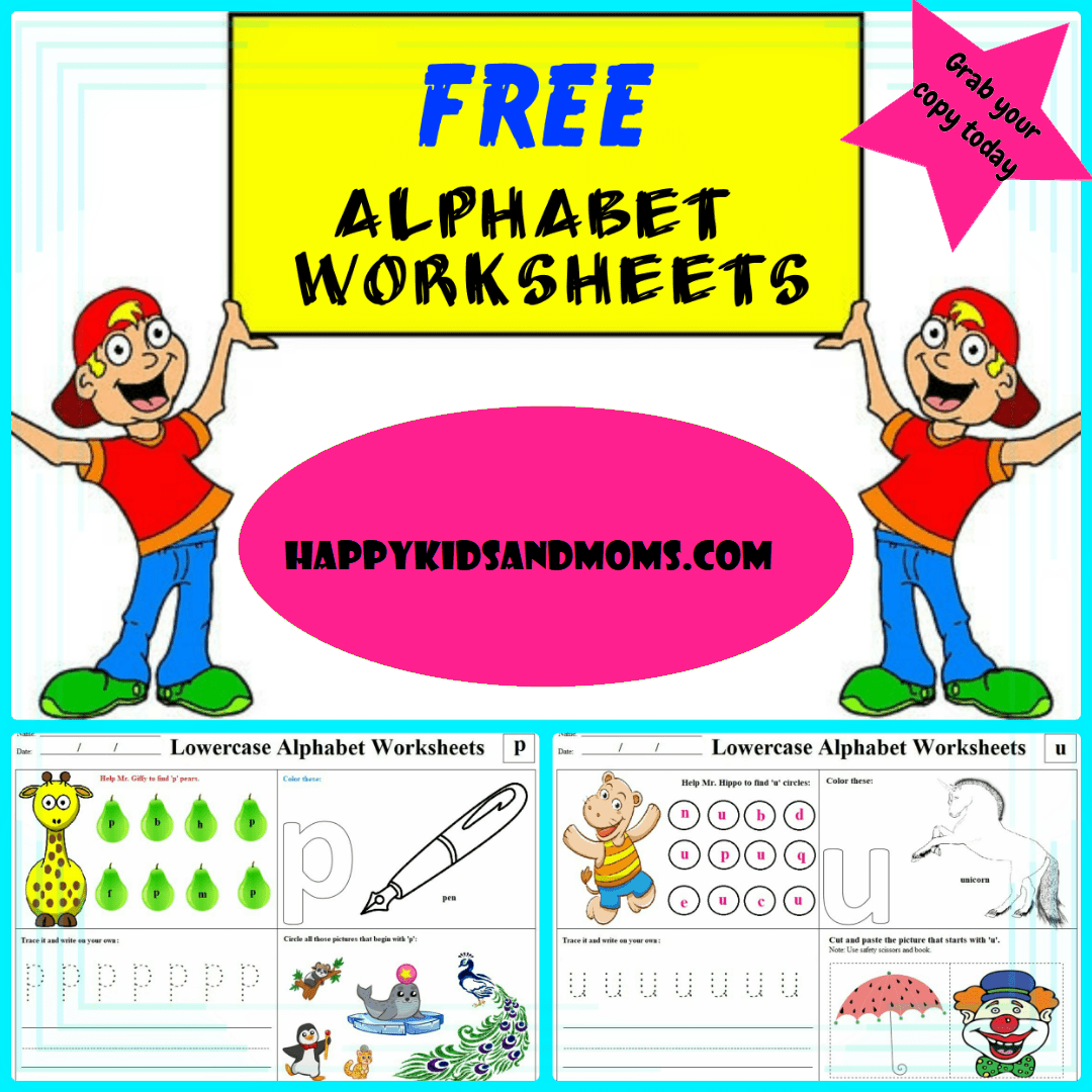 Free Alphabet Worksheets Activity Pages