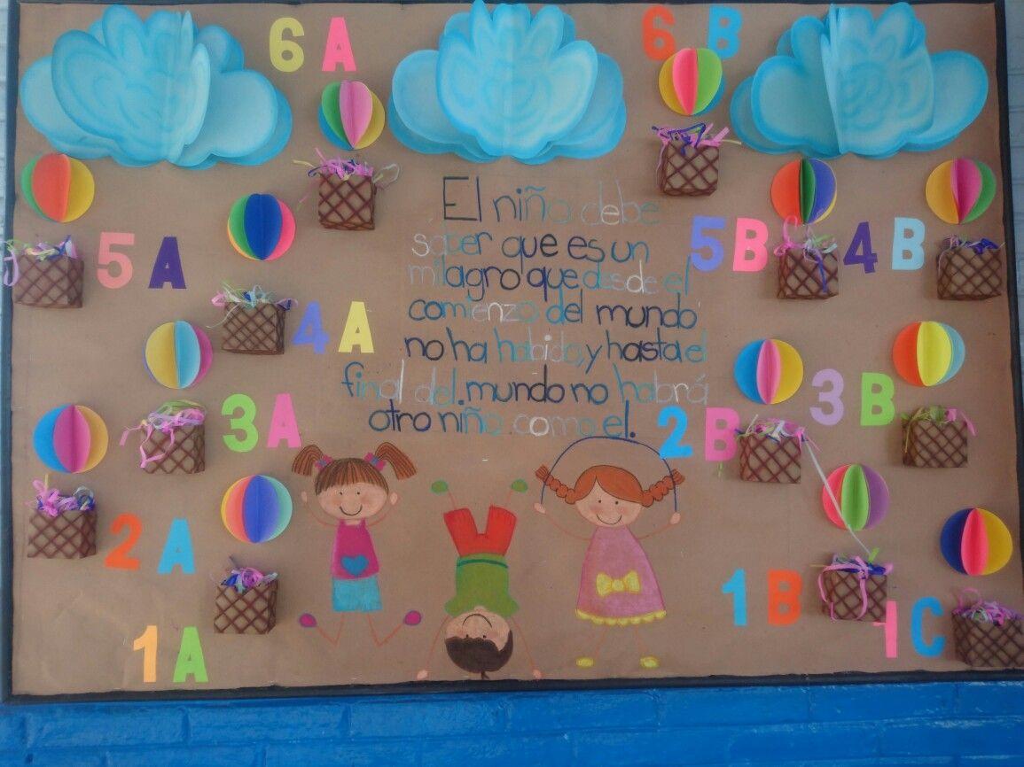 Periódico mural día del niño | manualidades | Pinterest | Periodico ...