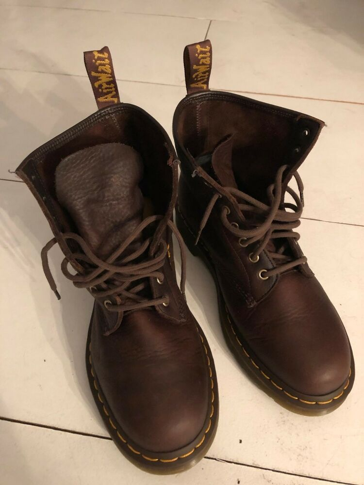 Dr Martens Air Wair W Bouncing Soles Mens Brown Leather 6 Eyelet
