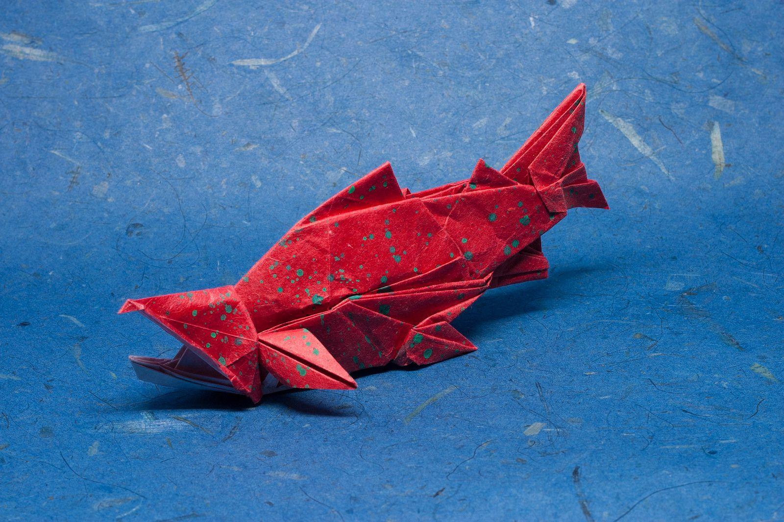 Salmon Issei Yoshino Origami Salmon Crafts