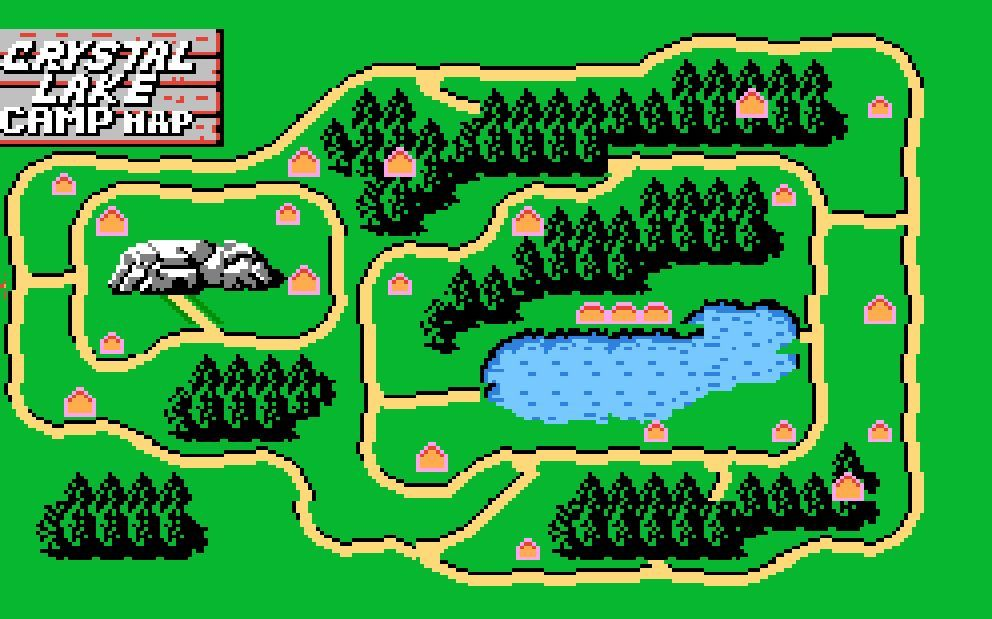 camp crystal lake map Friday The 13th Nes Map Jogos camp crystal lake map