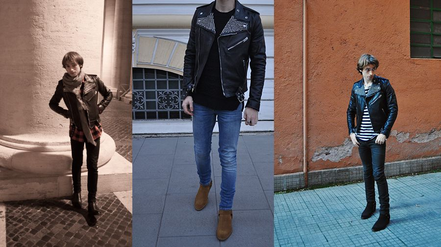 1ee98b47d Saint Laurent fw14 studded leather biker jacket review - Luster ...