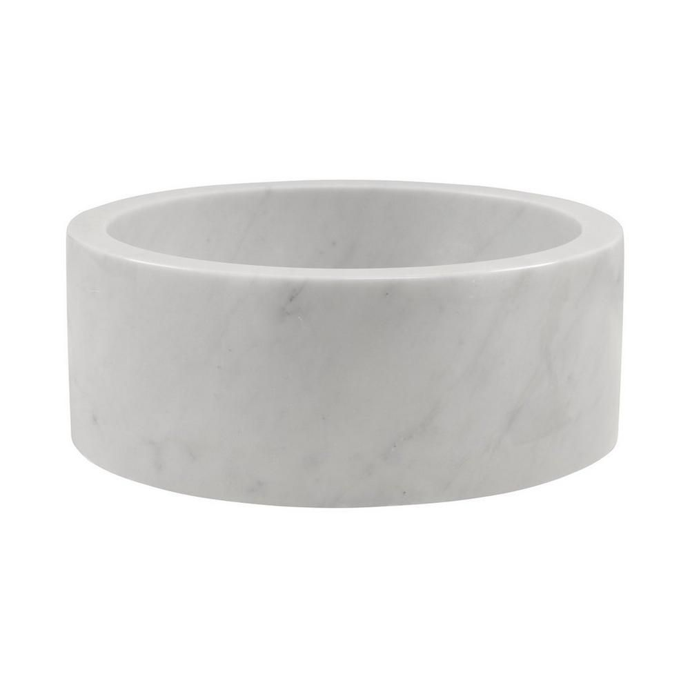 Bianco Carrara Round Marble Sink Fixtures Carrara Bathroom Sink