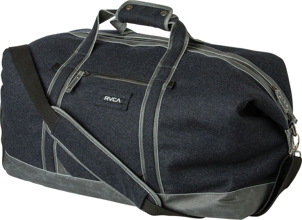The RVCA Oakwood Duffle II is a wool-blend duffle bag with a main  compartment… f14b588409731