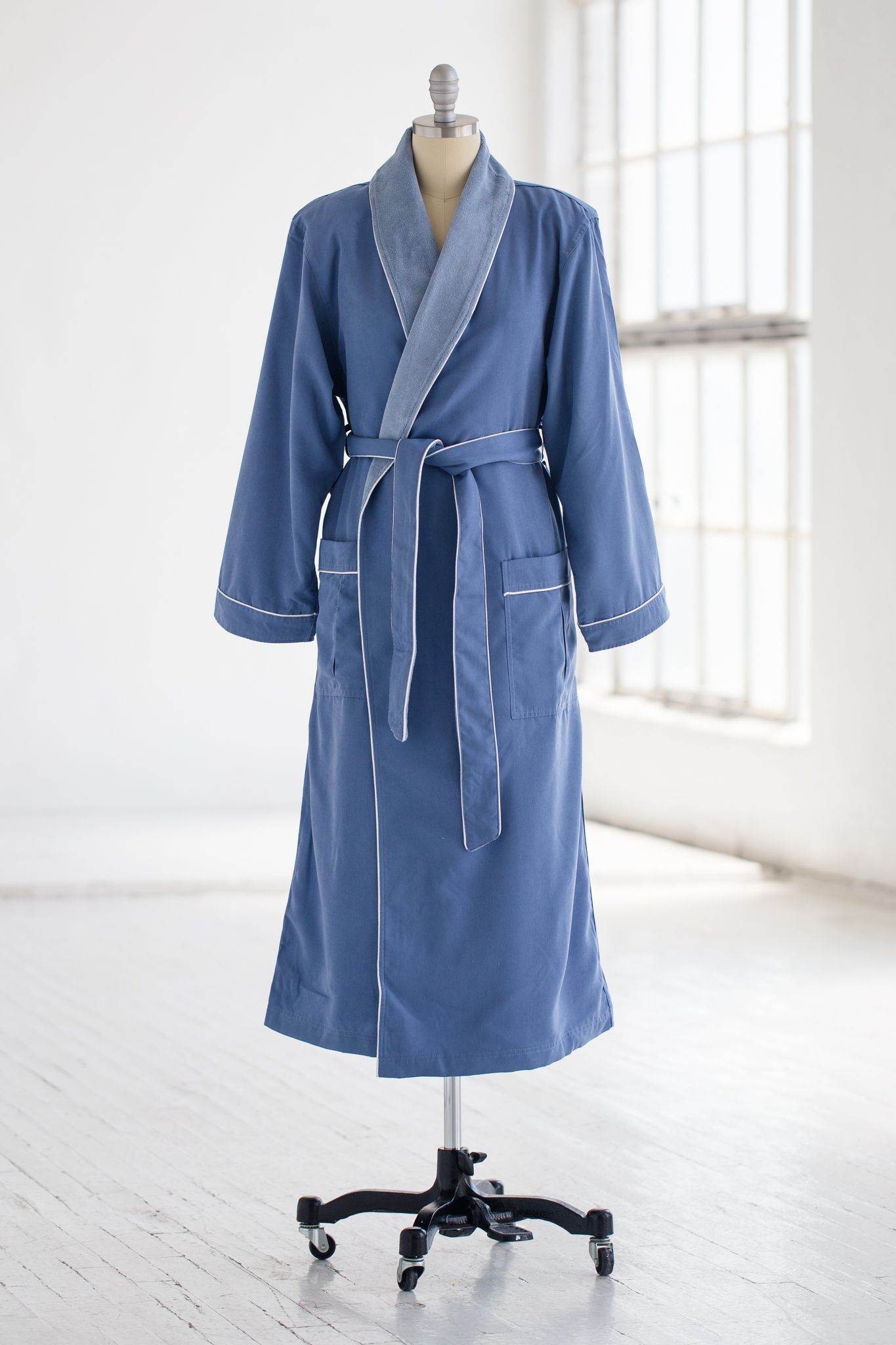 CLASSIC SPA ROBE TERRY CLOTH   MICROFIBER IN PERIWINKLE 124.00 Our best  selling men s   women s bd9fde821