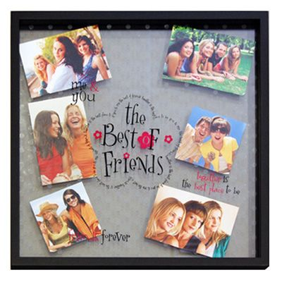 Best of Friends Multi-Photo Collage Frame. Wonderful idea! | Cricut ...