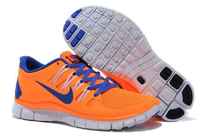 Womens Nike Free 5.0 Orange Blue Shoes  Orange  Womens  Sneakers ... a01d4525e671