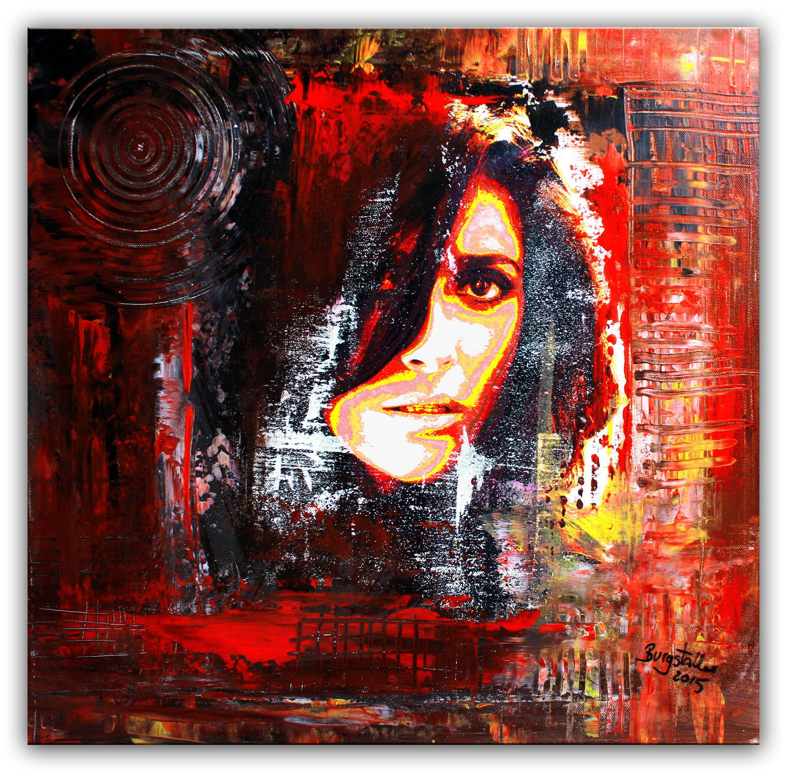 umdruck portrait 2 modern gesicht malerei 50x50 burgstallers art pinterest portrait. Black Bedroom Furniture Sets. Home Design Ideas