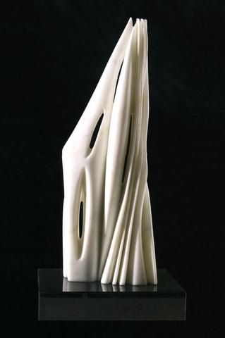 "Pablo Atchugarry, Untitled, 2006, 21""H carrrara marble at Hollis Taggart"
