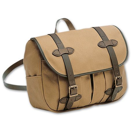 www.Filson.com | This Medium Field Bag rides comfortably at your side, or on your hip like a mail pouch