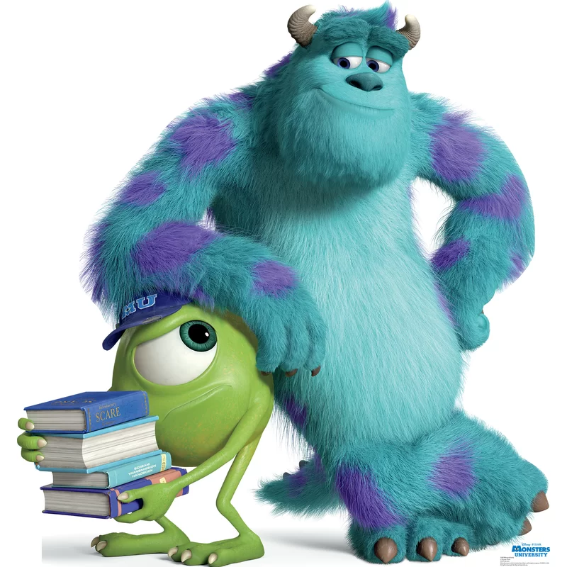 Mike And Sulley Disney Pixar Monsters University Cardboard Stand Up Mike And Sulley Monster University Monster Inc Costumes