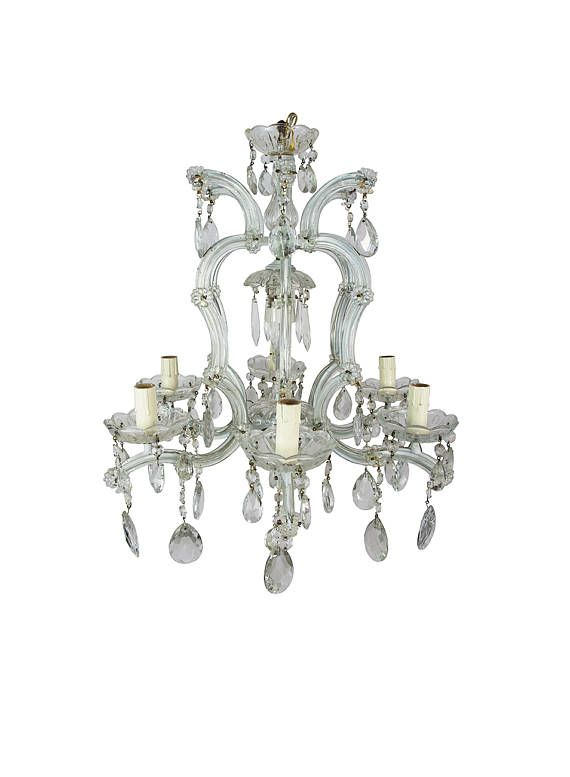 Antique Chandelier Maria Theresa Murano Italian Dining Room