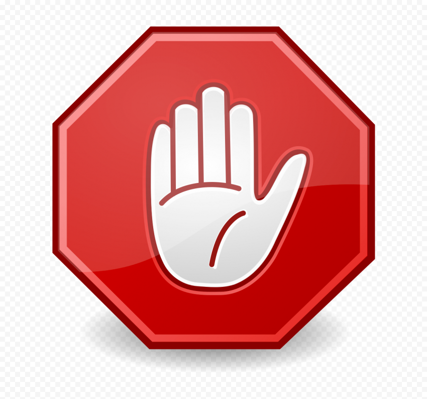 Hd White Hand Stop Icon On Red Road Stop Sign Clipart Png Clip Art Stop Sign Png
