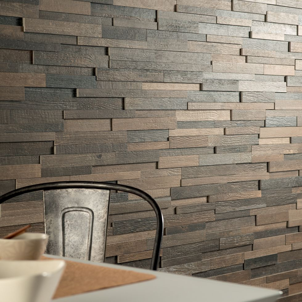 Looks just like a wall covered in #reclaimed wood planks! Fioranese |  Cottage Wood