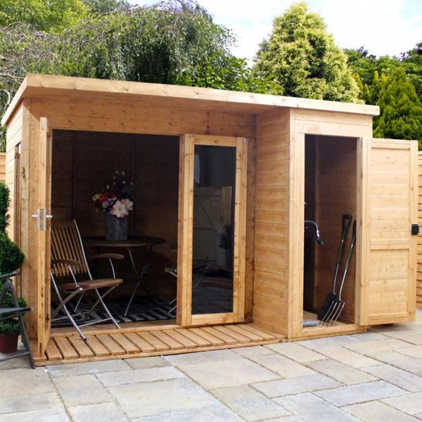 Garden Sheds And Summerhouses avon 10' x 8' cambridge summer house with side shed | garden shed