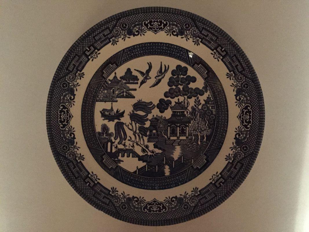 Broadhurst \ Willow\  Staffodrshre Ironstone 24cm Dinner Plate .mayfieldantiques.etsy.com & Broadhurst \