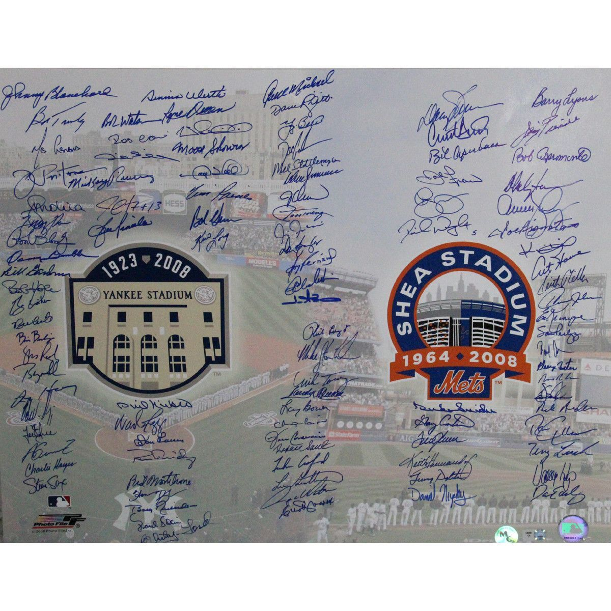 New York Mets/New York Yankees Multi Signed Farewell 16x20 Photo (MLB Holo/MC Holo)